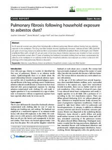 Pulmonary fibrosis following household exposure to asbestos dust?