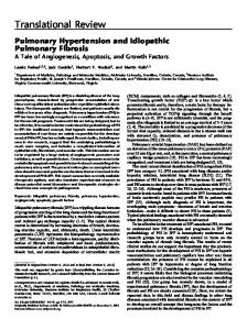 Pulmonary Hypertension and Idiopathic Pulmonary Fibrosis: A Tale of ...