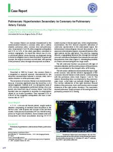 Pulmonary Hypertension Secondary to Coronary-to-Pulmonary Artery ...
