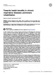 pulmonary rehabilitation - European Respiratory Review