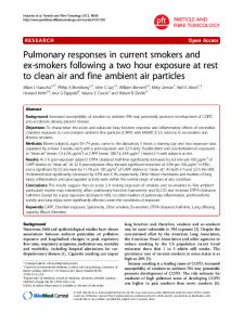 Pulmonary responses in current smokers and ex ... - BioMedSearch