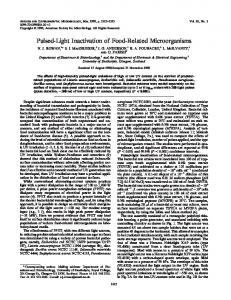 Pulsed-Light Inactivation of Food-Related Microorganisms