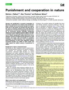 Punishment and cooperation in nature - UCL Discovery
