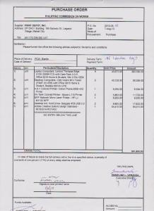 PURCHASE ORDER - Philippine Commission on Women