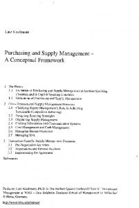 Purchasing and Supply Management - A Conceptual ... - EconBiz