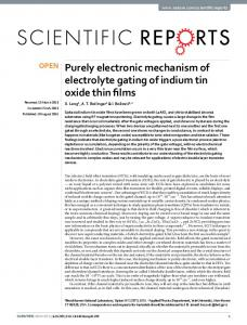 Purely electronic mechanism of electrolyte gating