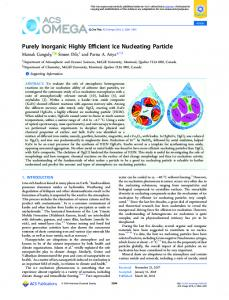 Purely Inorganic Highly Efficient Ice Nucleating ... - ACS Publications