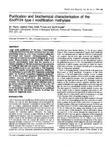 Purification and biochemical characterisation of the ... - BioMedSearch