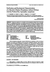 Purification and Biochemical Characterization of a