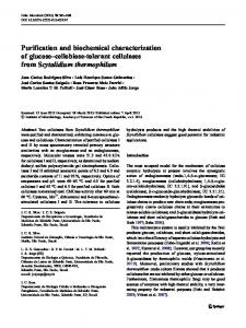 Purification and biochemical characterization of ... - Springer Link