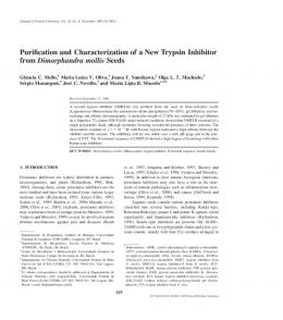 Purification and Characterization of a New Trypsin ... - Springer Link