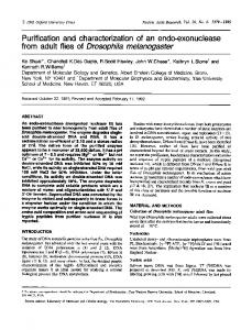 Purification and characterization of an endo ... - BioMedSearch