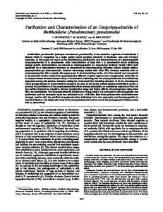 Purification and Characterization of an Exopolysaccharide of ...