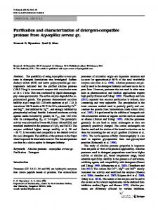 Purification and characterization of detergent