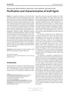 Purification and characterization of kraft lignin