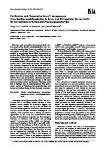 Purification and Characterization of Levansucrases from Bacillus ...