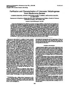 Purification and Characterization of Limonoate Dehydrogenase from ...