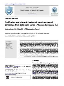 Purification and characterization of membrane-bound peroxidase from