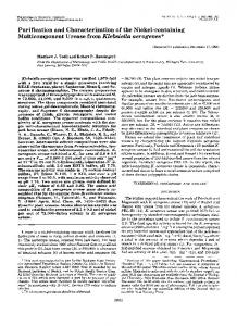 Purification and Characterization of the Nickel-containing ...