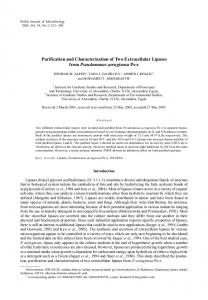 Purification and Characterization of Two Extracellular Lipases from ...