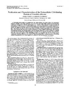 Purification and Characterization ofthe Extracellular C3d-Binding ...