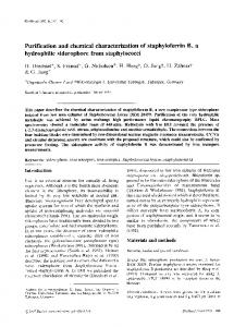 Purification and chemical characterization of ... - Springer Link