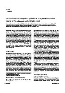 Purification and enzymatic properties of a peroxidase from leaves of