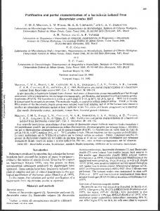 Purification and partial characterization of a ...