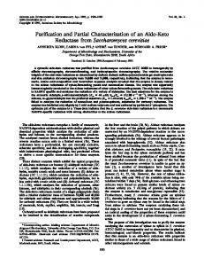 Purification and partial characterization of an aldo-keto reductase from ...