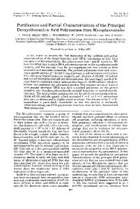 Purification and Partial Characterization of the Principal ...