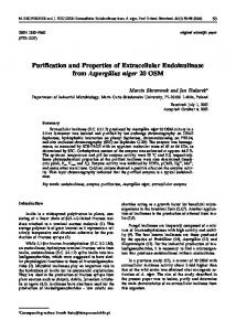 Purification and Properties of Extracellular Endoinulinase from ...