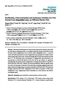 Purification, Characterization and Antitumor Activities of a New ... - MDPI