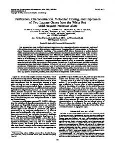 Purification, Characterization, Molecular Cloning, and Expression of ...