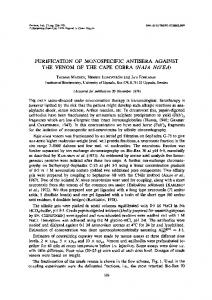 purification of monospecific antisera against the ... - Science Direct