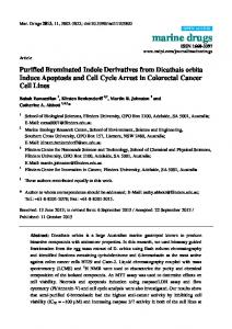 Purified Brominated Indole Derivatives from Dicathais ... - ScienceOpen
