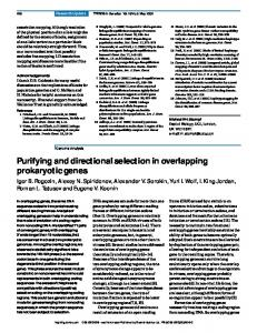 Purifying and directional selection in overlapping