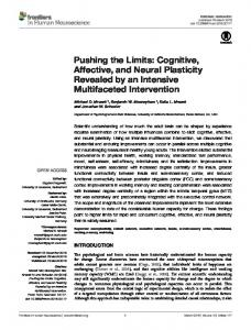 Pushing the Limits: Cognitive, Affective, and
