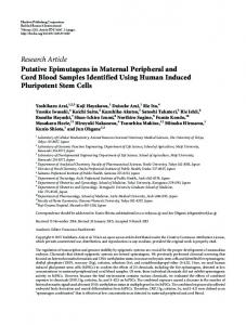 Putative Epimutagens in Maternal Peripheral and Cord Blood ...