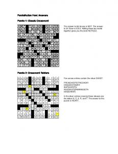 PuzzleNation Hunt Answers Puzzle 1 - American Crossword Puzzle ...