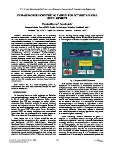 PV Based Green Computing System for ICT Sustainable ... - IEEE Xplore