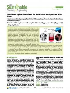 PVA/Gluten Hybrid Nanofibers for Removal of Nanoparticles from Water