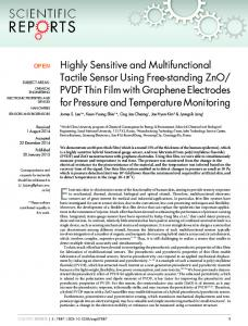 PVDF Thin Film with Graphene Electrodes for