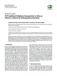 PVP-Stabilized Palladium Nanoparticles in Silica as Effective ...