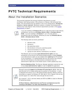 PVTC Technical Requirements - Pearson VUE