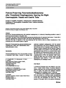 Pylorus-Preserving Pancreaticoduodenectomy after ... - Springer Link