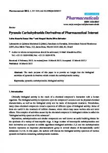 Pyrazole Carbohydrazide Derivatives of Pharmaceutical ... - CiteSeerX