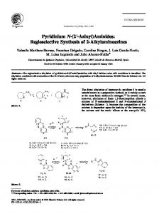 Pyridinium N-(2 -Azinyl)Aminides: Regioselective Synthesis of ... - Core