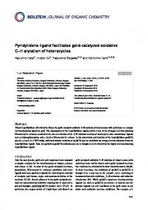 Pyridylidene ligand facilitates gold-catalyzed ... - Beilstein Journal