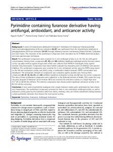 Pyrimidine containing furanose derivative having antifungal ...