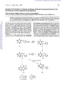 pyrimidines via Intramolecular Cycloadditions